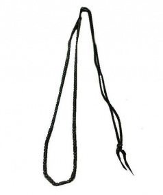 UNIFORM EXPERIMENT(ユニフォームエクスペリメント)の古着「パイプビーズネックレス(シルバービーズネックレス)」|ブラック