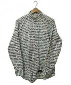 WTAPS(ダブルタップス)の古着「総柄長袖ボタンダウンシャツ」|ブラック×ホワイト