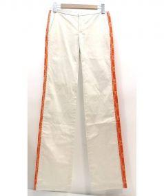PAOLA FRANI(パオラフラーニ)の古着「ストレートチノパンツ」|ベージュ×オレンジ
