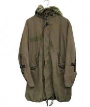INTER SECTION(インターセクション)の古着「スタッズ装飾ライナー付モッズコート」|グリーン