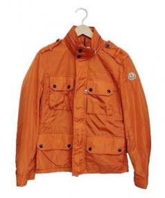 MONCLER(モンクレール)の古着「M-65型ナイロンミリタリージャケット」|オレンジ