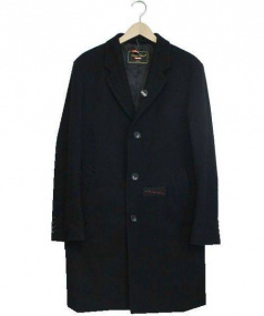 UNDERCOVER × Supreme(アンダーカバー×シュプリーム)の古着「コラボウールオーバーコート(チェスターコート)」|ブラック