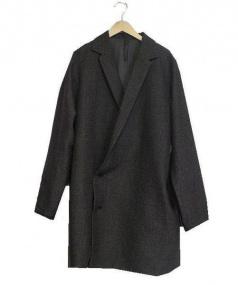 Edwina Horl(エドウィナホール)の古着「ロングテーラードコート(ダブルウールチェスターコート)」|ブラウン