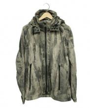 TATRAS(タトラス)の古着「ナイロンスノーカモフラージュフーデッドブルゾン ジャケット」|グレー