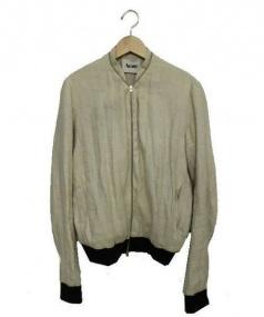 Acne(アクネ)の古着「リネンブルゾンジャケット」|ベージュ