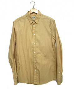 Acne(アクネ)の古着「A刺繍長袖ボタンダウンシャツ」|ベージュ