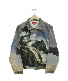 SUPREME(シュプリーム)の古着「カウボーイデニムワークジャケット」|ホワイト×グレー