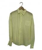 Frank&Eileen(フランクアンドアイリーン)の古着「長袖コットンシャツ」|イエロー