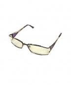 CAZAL(カザール)の古着「伊達眼鏡(メガネフレーム)」|パープル