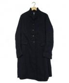 BERGFABEL(バーグファーベル)の古着「ストレートコート(ステンカラーチェスターコート)」|ネイビー