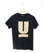 UNDERCOVER(アンダーカバー)の古着「バーガーUロゴTシャツ」 ブラック