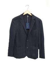 AT.P.CO(アティピコ)の古着「アンコンコットンテーラードジャケット」|ネイビー
