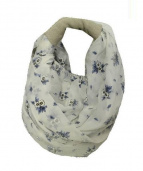 ebagos(エバゴス)の古着「花柄デザインハンドバッグ」 ホワイト