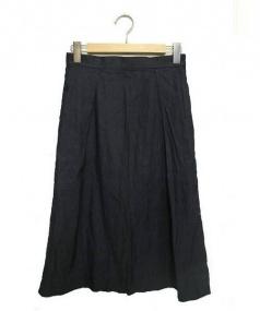 R&D.M.Co-OLDMANS TAILOR(オールドマンズテーラー)の古着「タックロングスカート」|グレー