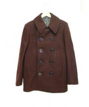 ROPPEN(ロッペン)の古着「メルトンPコート」|ボルドー