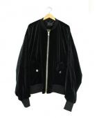whiteland Blackburn(ホワイトランドブラックバーン)の古着「ビッグベロアMA-1ジャケット」|ブラック