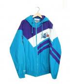 MITCHELL & NESS(ミッチェルアンドネス)の古着「中綿スタジャンジャケット」|ブルー×パープル