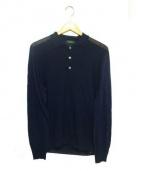 ZANONE(ザノーネ)の古着「長袖ニットポロシャツ」|ネイビー