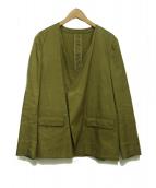 semoh(セモー)の古着「ノーカラージャケット」|ブラウン