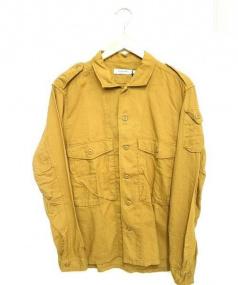 nonnative(ノンネイティブ)の古着「オーバーダイ加工ツイルミリタリーシャツ」|ベージュ