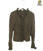 FOXEY BOUTIQUE(フォクシー ブティック)の古着「アンゴラ混ニットジャケット」|ブラウン