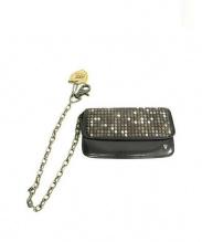 HTC(エイチティーシー)の古着「ウォレットチェーン付スタッズ2つ折り財布」|ブラック
