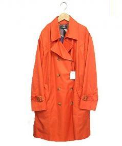 Marble SUD(マーブルシュッド)の古着「トレンチコート」|オレンジ