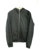 HYDROGEN(ハイドロゲン)の古着「ストライプ中綿ジャケット」|ホワイト×ブラック