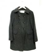 TIARA(ティアラ)の古着「カシミヤ混ウールコート」 グレー