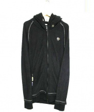 Francist_MOR.K.S.(フランシストモークス)の古着「ハイビスカルスワロジップアップパイルパーカー」 ブラック