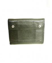 PORTER(ポーター)の古着「ゴートレザー2つ折り財布」|ブラック