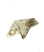 HERMES(エルメス)の古着「大判シルクスカーフ」|ベージュ×ホワイト