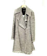 LANVIN COLLECTION(ランバン コレクション)の古着「デザインウールコート」|グレー