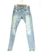 Denim & Supply Ralph Lauren(デニムアンドサプライ ラルフローレン)の古着「ダメージ加工デニムパンツ」|インディゴ