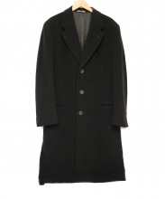 GIORGIO ARMANI(ジョルジオアルマーニ)の古着「ロングチェスターコート」|ブラック