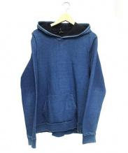 A.P.C.(アーペーセー)の古着「USED加工インディゴデニムスウェットプルオーバーパーカー」 ブルー