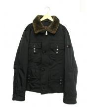 PEUTEREY(ピューテリー)の古着「襟ファーダウンジャケット」|ブラック