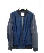 STUDIOUS(ステュディオス)の古着「リネン混MA-1ジャケット」|ネイビー×ブルー
