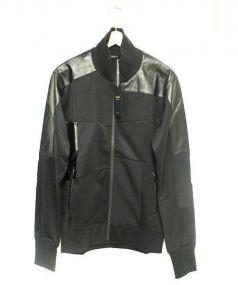 narifuri(ナリフリ)の古着「パッチワークトラックジャケット」|ブラック