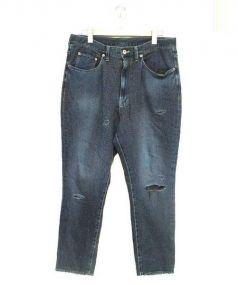 doublet(ダブレット)の古着「加工デニムパンツ」|ブルー×ブラウン