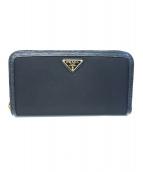 PRADA(プラダ)の古着「ラウンドファスナー長財布」|ブラック