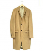 ato(アトウ)の古着「ロングアンゴラメルトンチェスターコート」|ベージュ