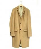 ato(アトウ)の古着「ロングアンゴラメルトンチェスターコート」 ベージュ