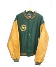 Golden Bear(ゴールデンベアー)の古着「80-90sヴィンテージスタジャン」 ブラウン×グリーン