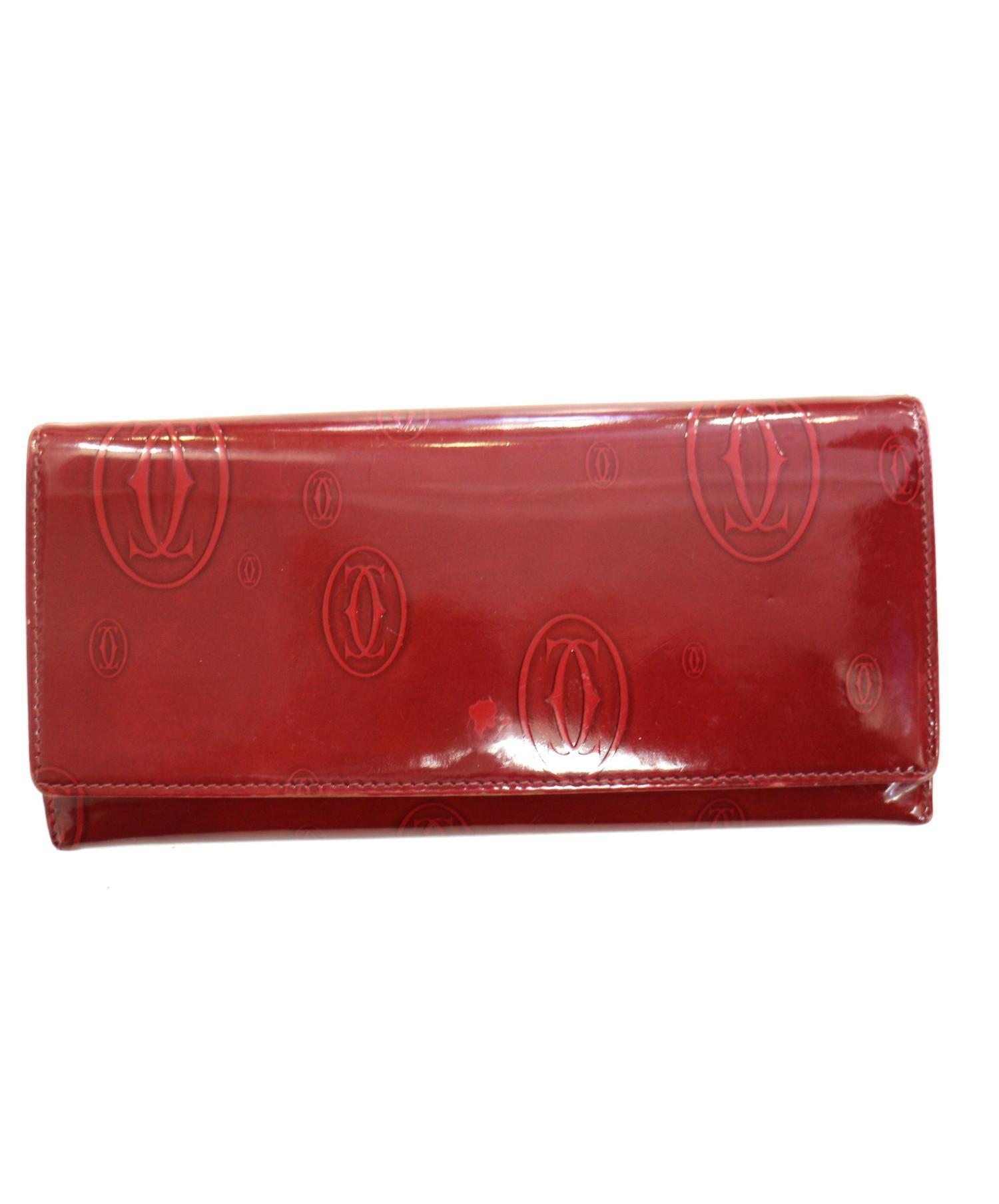 4a4adbd2ecb1 中古・古着通販】Cartier (カルティエ) 長財布 ボルドー サイズ:下記参照 ...