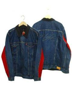 LEVIS × NIKE(リーバイス×ナイキ)の古着「リバーシブルトラッカージャケット」|ブルー×ブラック