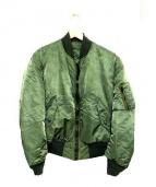 ALPHA(アルファ)の古着「80sヴィンテージMA-1フライトジャケット」|グリーン