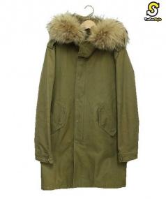 LITHIUM HOMME(リチウムオム)の古着「ボアライナー付モッズコート」|ベージュ