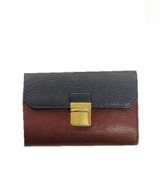 MIU MIU(ミュウミュウ)の古着「レザー3つ折り財布」|ネイビーボルドー