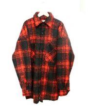 FR(13)NDS(フレンズ)の古着「ルーズチェックシャツジャケット」 レッド×ブラック